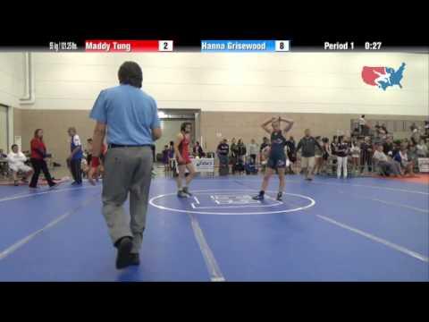 FILA Junior 55 kg / 121.25 lbs. - Maddy Tung vs. Hanna Grisewood