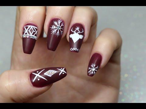 Christmas Nails Mate ! Model unghii de Craciun Mate !
