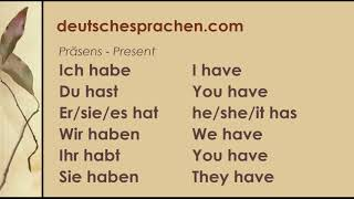 "Verb ""Haben"" - ""To Have"" in German"