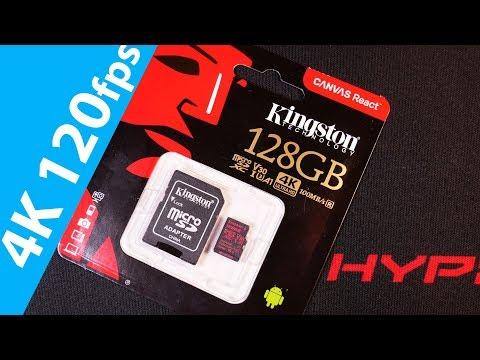 Флешка Microsd 4K 120fps Kingston Canvas React 128gb Sd карта