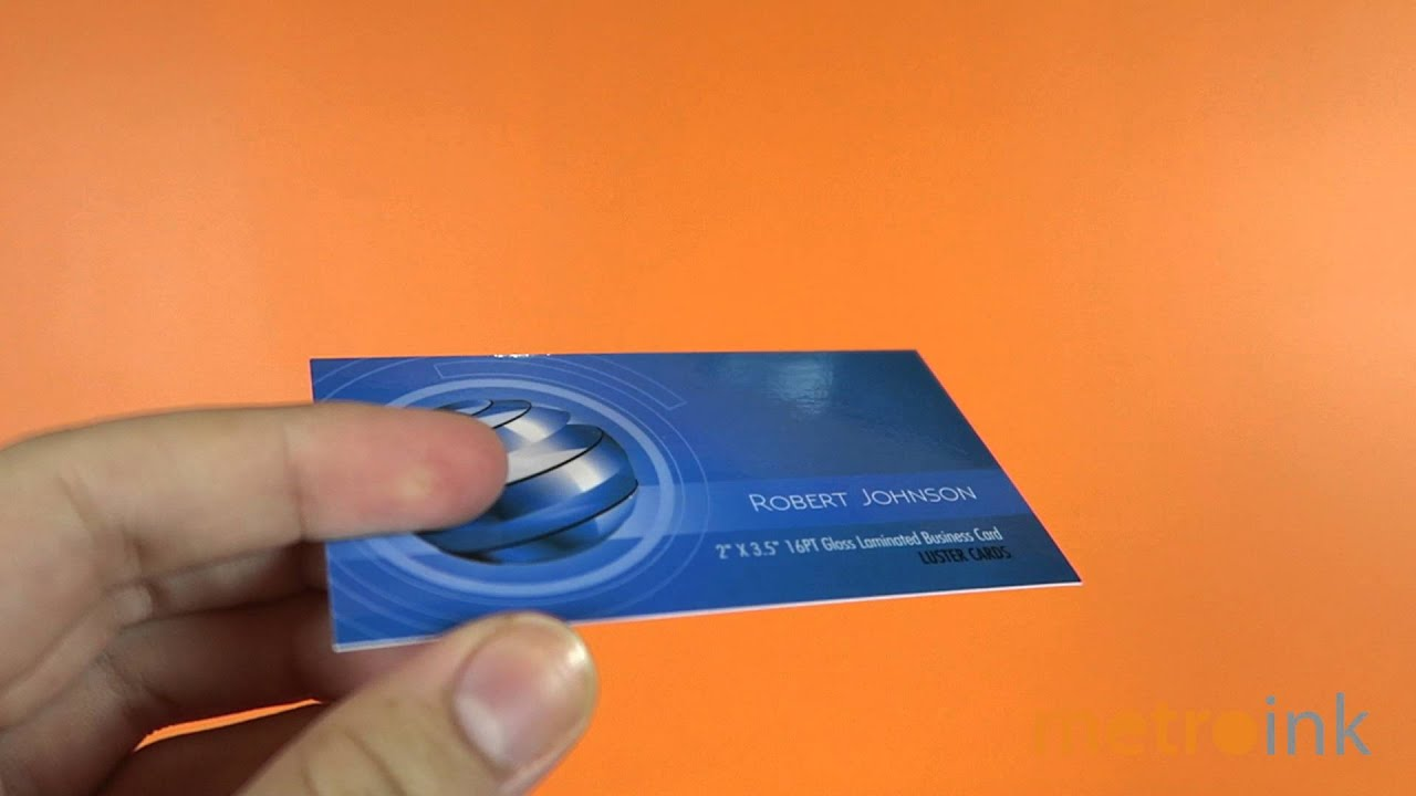 Metroink Business Cards 16pt Gloss Laminated Luster card - YouTube