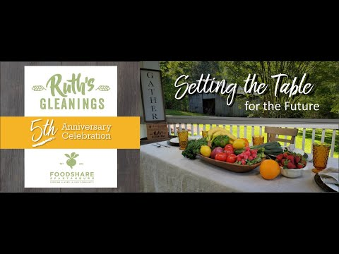 Thumbnail for video Ruth's Gleanings: Our 5th Year Celebration