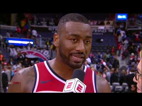 John Wall postgame interview talks shooting and 76ers' Ben Simmons and Joel Embiid | ESPN