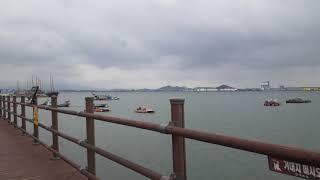 목포문화예술회관 앞에있는 바다, 배들3