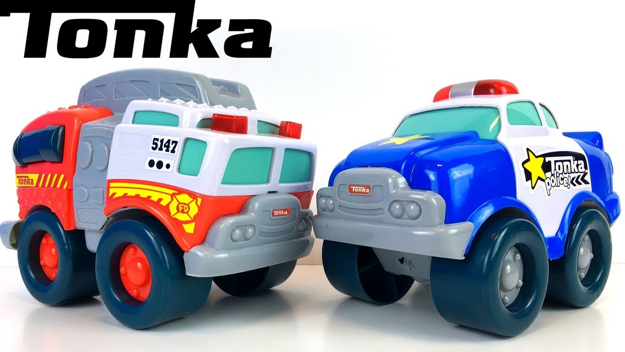 My Wobble Fire Tonka First And Truck With Wheels Police Car R3jL54A
