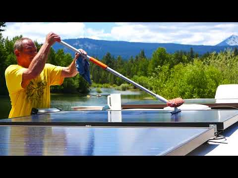 Cleaning the solar panels