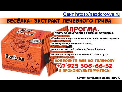Лечение грибом Веселка -