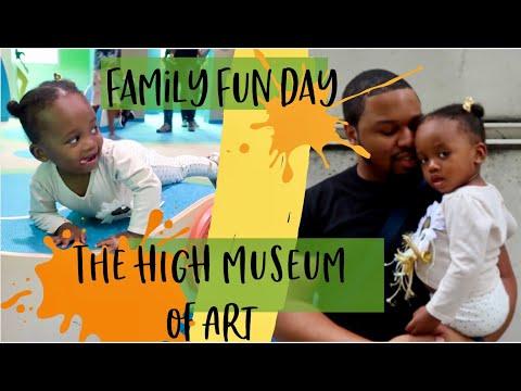 EXPLORING DOWNTOWN ATLANTA  HIGH MUSEUM  FAMILY FUN DAY