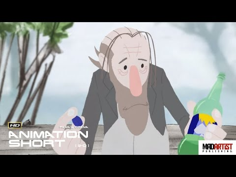 """2D Animated Short Film """"DRAWING INSPIRATION"""" Motivational Animation by Tim McCourt"""