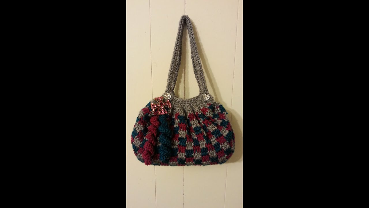 Crochet Bags And Purses Tutorial : CROCHET How To #Crochet Clever Blocks Stitch Handbag Purse #TUTORIAL ...