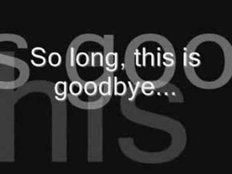10 Years- So Long, Goodbye (lyrics)