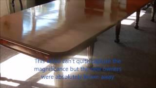 Stunning Original Georgian 14ft Regency Period Gillows Antique Dining Table