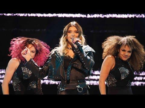 Hanna Ferm sjunger Born this way i Idol 2017 - Idol Sverige (TV4)
