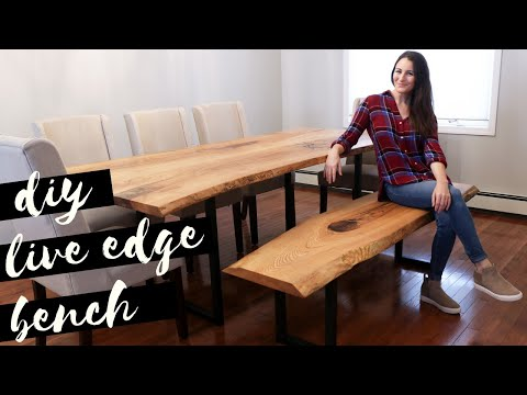 DIY Live Edge Bench With Metal Legs | Dining Table Build Part 2
