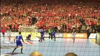 2019ハンドボール世界選手権3位決定戦 カラバティッチの残り1秒からのゴールでフランスが銅メダル獲得  撮影:阿部直人(法政二高)