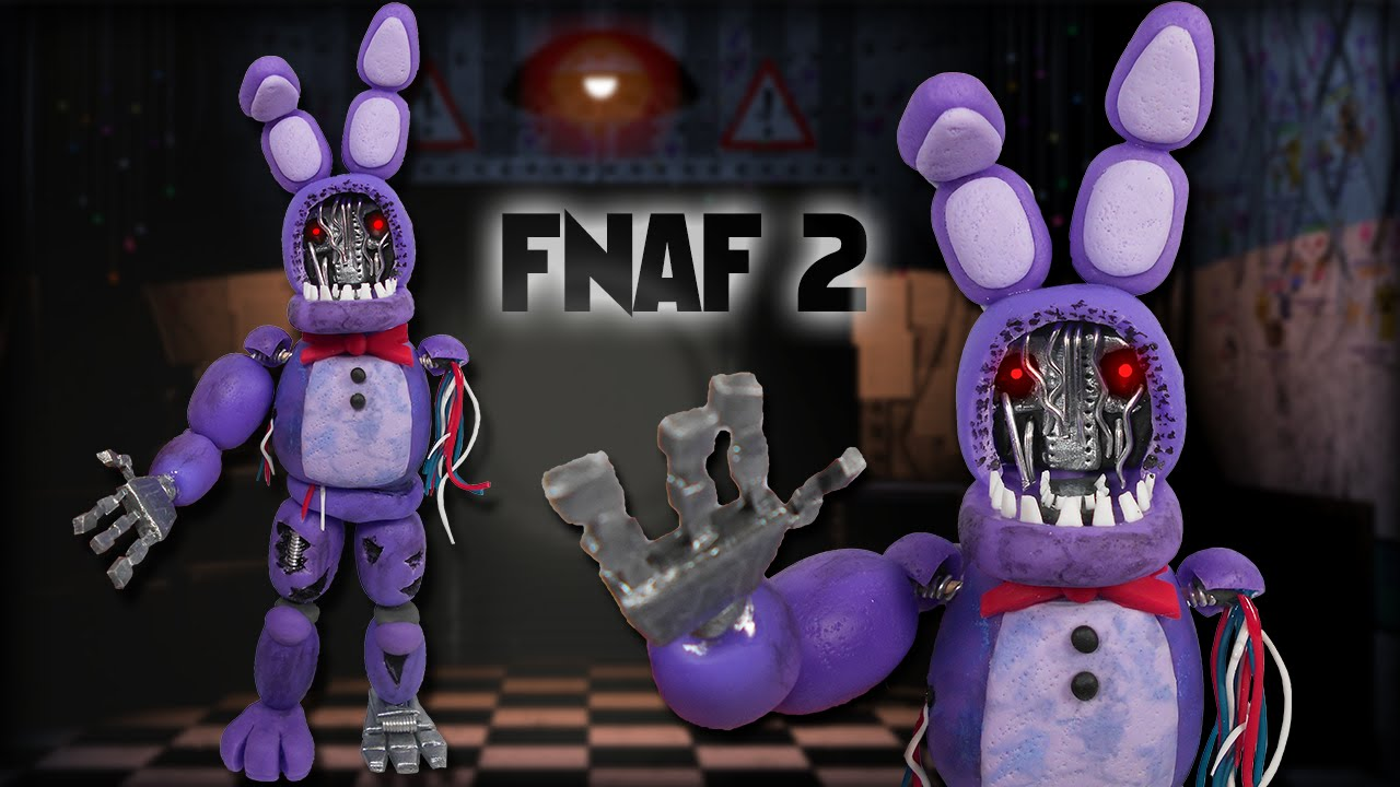 Fnaf 2 Withered Bonnie Posable Figure Tutorial Polymer