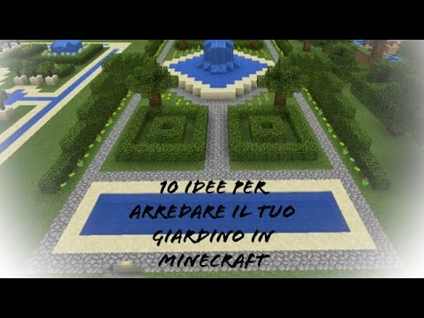 10 idee per arredare il tuo giardino su minecraft - youtube - Idee Arredamento Minecraft