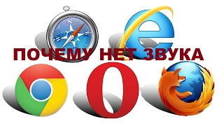Почему нет звука в браузере (Opera. Mozilla Firefox. Google Chrome. Yandex)