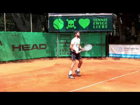 N.Basilashvili Warm Up | Tennis Ewige Liebe