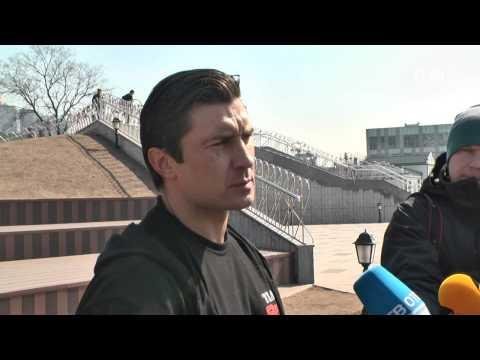 VL Ru  Фитнес тренировка на набережной Цесаревича Владивосток