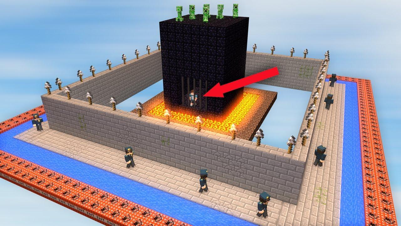 AUSBRUCHSICHERSTES GEFÄNGNIS IN MINECRAFT YouTube - Minecraft gefangnis spiele