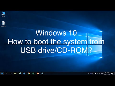 Windows 10 - How To Boot The System From USB Drive/CD-ROM?