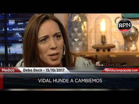 Vidal hunde a CAMBIEMOS a una semana de las elecciones.