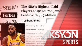 LeBron James, highest paid NBA player ulit sa ikalimang sunod na taon