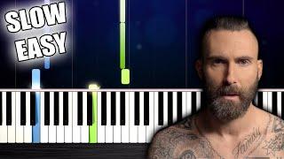 Maroon 5 - Memories - SLOW EASY Piano Tutorial by PlutaX