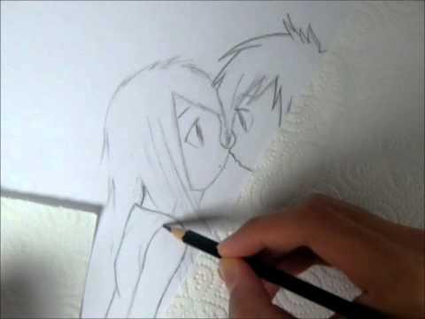 Drawing Cute Manga Anime Hug Youtube