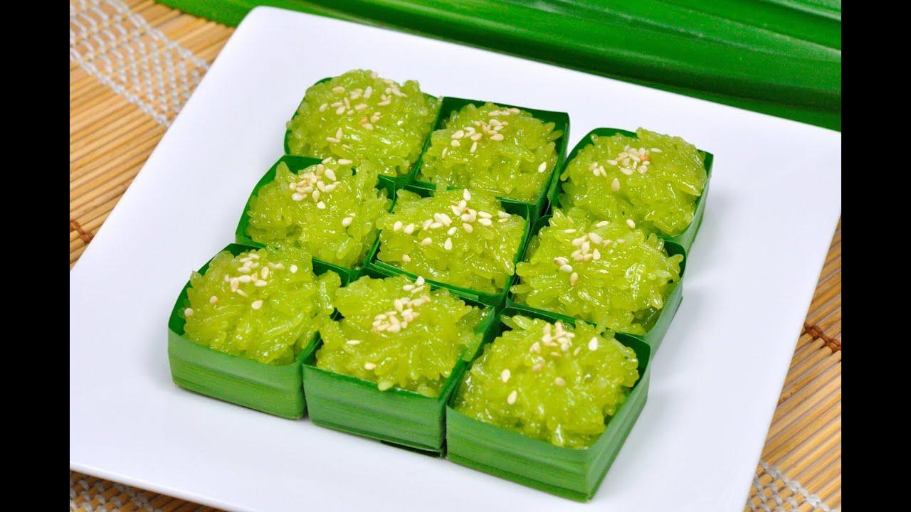 Sweet Shiny Coconut Sticky Rice (Thai Dessert) - Khao Niew ...