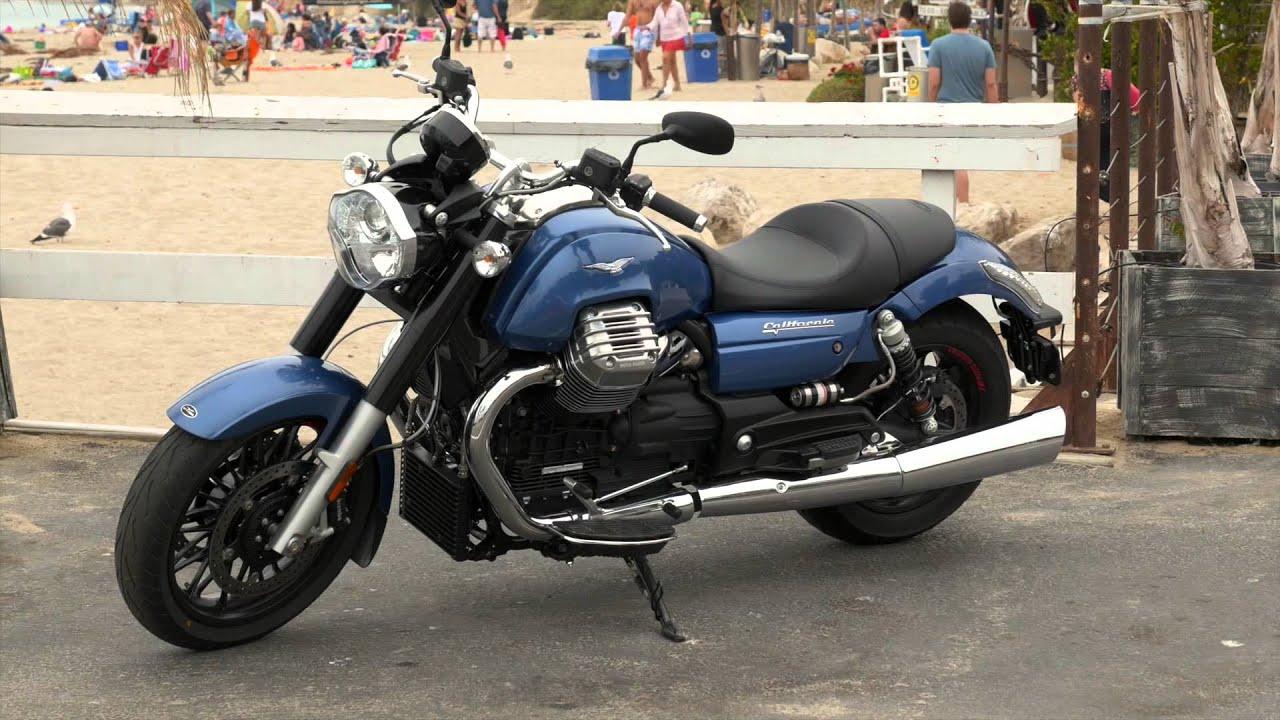 moto guzzi california custom blue silver, malibu - youtube