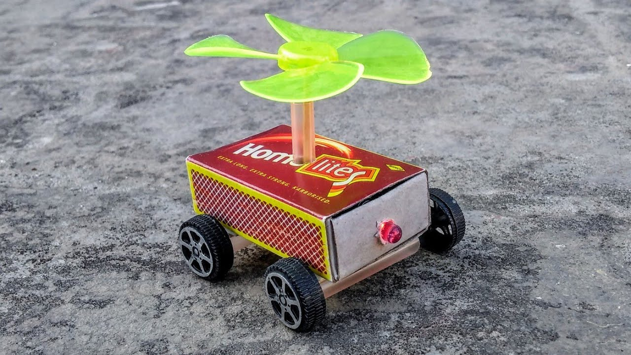 How To Make Match Box Helicopter Car At Home