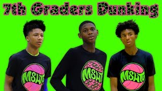TOP 7th Graders DUNKING with EASE - Elijah Fisher, Mikey Williams, Rayvon Griffith, Nate Sasser