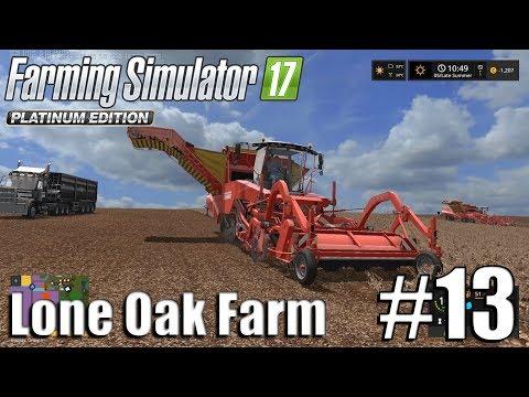 Farming Simulator 17 - Lone Oak farm - Timelapse # 13 - Too Many Potatoes
