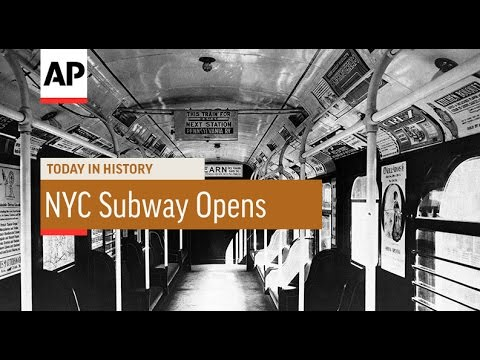 New York City Subway Opens  1904   Today in History  27 Oct 16
