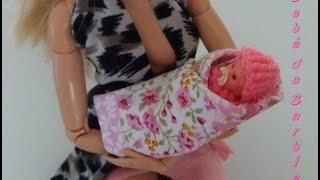 Como fazer um bebê para Barbie,  Ever After High e  outras bonecas