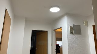 LED Ceiling Light Lamp Flush Mount 6000k 20W Super Bright 2000L ultra slim Unboxing and instructions