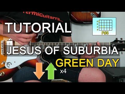 Como Tocar JESUS OF SUBURBIA En Guitarra Green Day (Partes 1 Y 2) - TAB ACORDES
