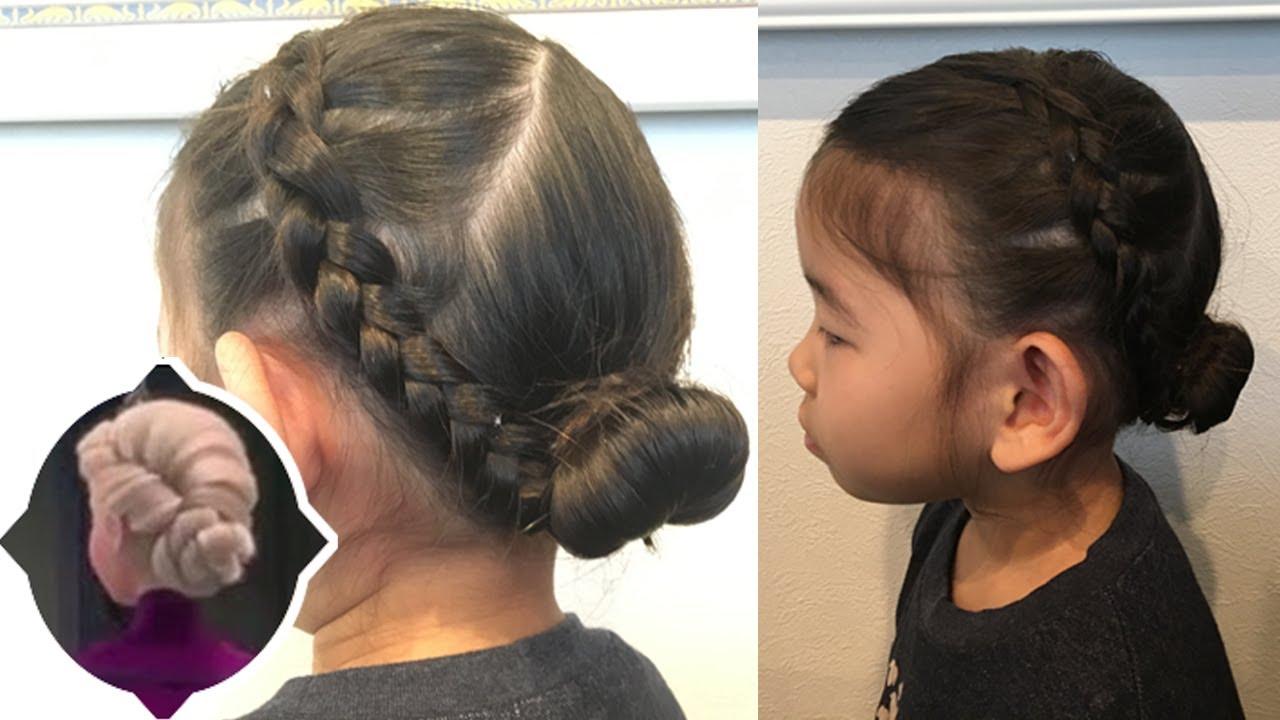 【ヘアアレンジ】プリンセスヘアーアレンジ アナ雪 エルサ 簡単キッズヘアーアレンジ EASY HAIRSTYLES kids Hairstyle