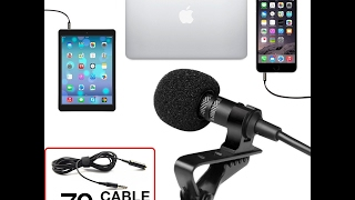 Professional Grade Lavalier Lapel Microphone ­ Omnidirectional Mic!
