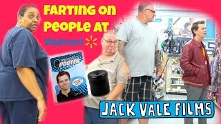 Farting At Walmart - The Pooter - WOMAN PUTS UP HER FISTS!!!!!