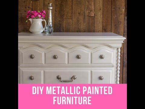 DIY Metallic Painted Furniture - Pearl Effects Tutorial