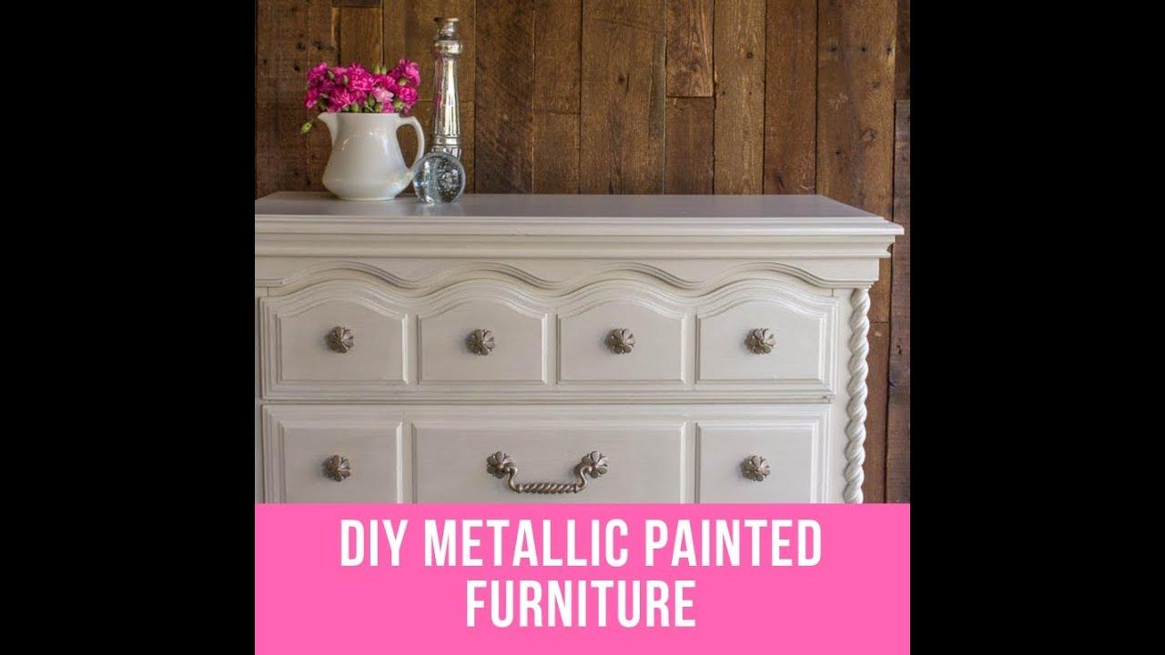 Diy Metallic Painted Furniture Pearl Effects Tutorial