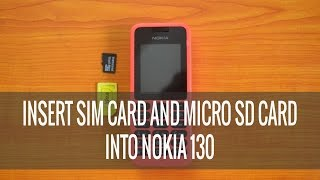 Download Video How to Insert SIM Card and micro SD card into Nokia 130 MP3 3GP MP4