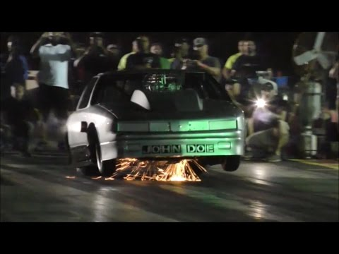 Street Outlaws Nola John Doe test hit at Fat Tues. No Prep event