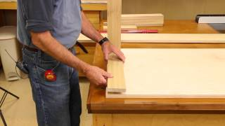 Steve Johnson, The Down to Earth Woodworker, begins his new project, a Quick Kitchen Cabinet, which can be built in 2 hours or
