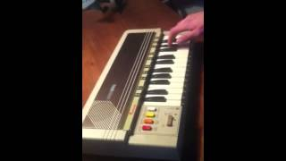 Space Quest theme on old synthesizer