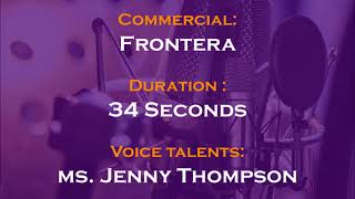 Jenny Thompson voice actor - Frontera commercial