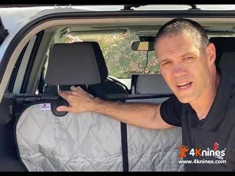 Dog Seat Cover And Cargo Liner Headrest Strap Adjustment Trick - 4Knines - Видео онлайн